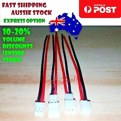 2 Pairs 55mm JST-PH 2.0mm M&F Male Female RC Connector Cables Battery Charger
