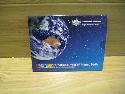 Australian Coins   Year 2008  Six Coin Uncirculated Set     Free Postage