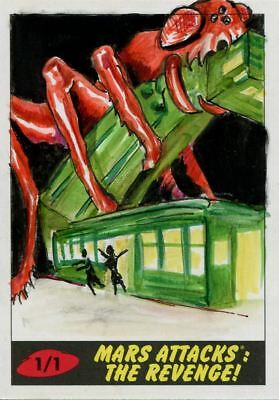 Mars Attacks The Revenge Sketch Card By John Brewer