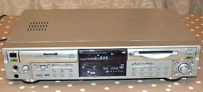 SOUNDLAB CD Player & Minidisc Player/Recorder Combo - Fully Working But Tatty