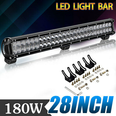 "28""inch 180W LED Light Bar Flood Spot Combo Work Lamp For Offroad UTV 4WD 26/30"