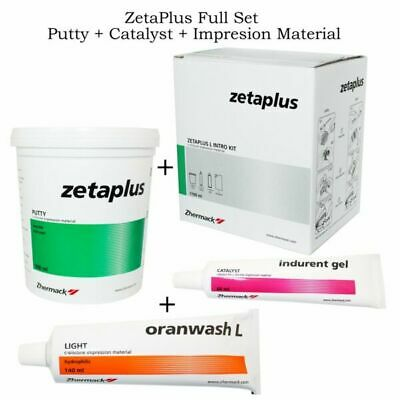 Dental Zetaplus Putty C-Silicone Impression Material  Kit 900ml by Zhermack