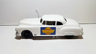 Vintage US Highway Patrol plastic tinplate friction Made in Great Britain signed