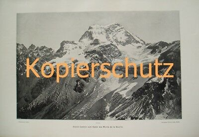 111 Sella: Grand Combin Gletscher Riesendruck 1903!!