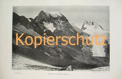 099-4 Sella: Mont Collon Gletscher Riesendruck 1902!!