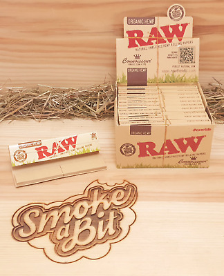 12-booklets Raw CONNOISSEUR King Size Slim Organic Hemp Rolling papers + Tips