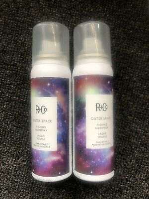 926fab642935f 2 R+Co Outer Space Flexible Hairspray 2.25 oz Travel Size ~ New R Co