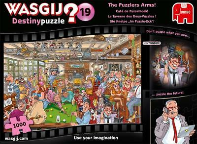 NEW! Jumbo Wasgij Destiny 19 The Puzzlers Arms 1000 piece comic cartoon jigsaw