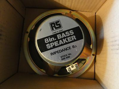 8 Inch Bass Speaker 8 ohm RS Made in Japan Boxed
