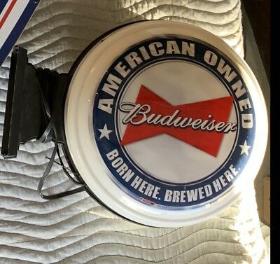 Budweiser two sided light up sign Anheuser-Busch Brewery Rare