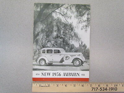 Vintage & original 1936 Auburn 654 & 852 car catalog / brochure