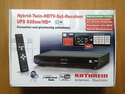 Kathrein UFS 935 sw / HD+ Hybrid Twin HDTV Sat Receiver