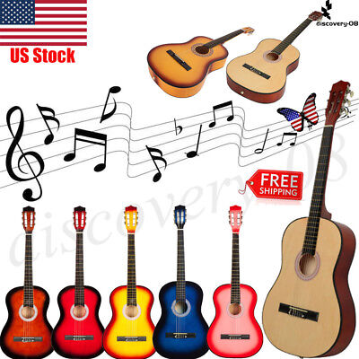 "Acoustic Classic Guitar 38"" 6 Strings Beginners Student / Adults Musical Tools"