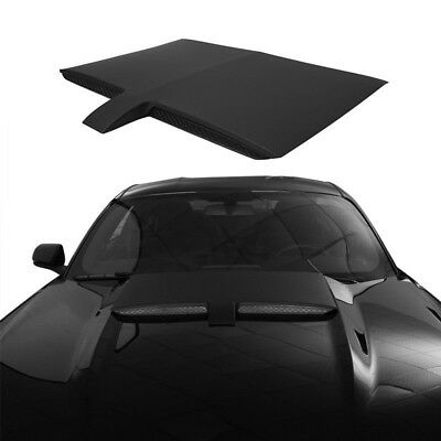 Hooke Road Black ABS Car Air Engine Hood Scoop Cover For 15-17 Ford Mustang