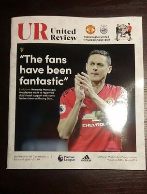 Manchester United FC v Huddersfield Town 26/12/2018 Official Matchday Programme