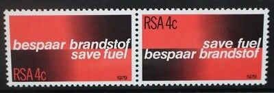 SOUTH AFRICA 1979 Fuel Conservation. Set of 2. Mint Never Hinged. SG457/458.