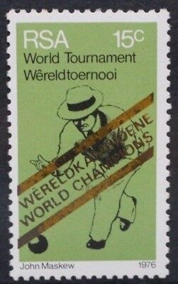 SOUTH AFRICA 1976 Victory in World Bowls Championships OVPT. Set of 1. MNH SG398