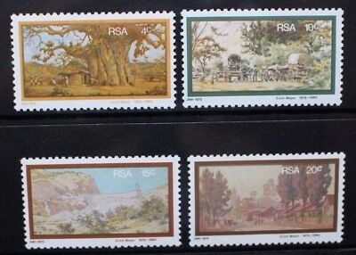 SOUTH AFRICA 1976 Erich Mayer Paintings. Set of 4. Mint Never Hinged. SG399/402.