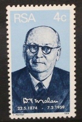 SOUTH AFRICA 1974 Dr D F Malan Birth Centenary. Set of 1 Mint Never Hinged SG343