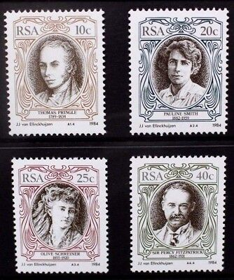 SOUTH AFRICA 1984 English Authors. Set of 4. Mint Never Hinged. SG554/557.