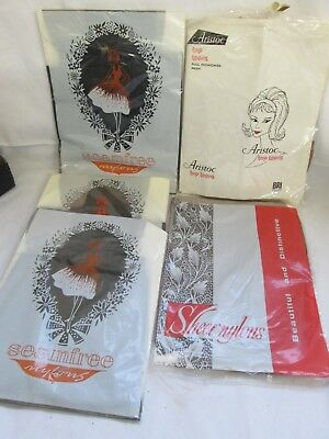 Five Pairs of Nylon Stockings Size 8.5 in Original Packaging New/Unused