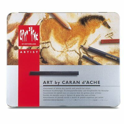 Caran D'ache Medium Art Sketching Set in Metal Tin, Pencils, Pastels, 0776.314