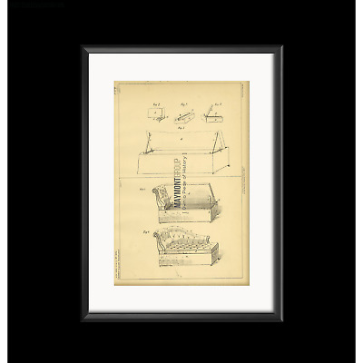 Chaise Lounge Smith Original Patent Lithograph 1889