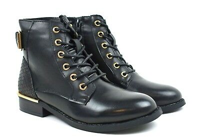 New Ladies Stunning Buckle Lace Up Ankle Women Boot UK Size 3-8