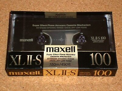 MAXELL XL II-S 100 - NEW/SEALED blank cassette tape - Type II- 100 minutes-Japan