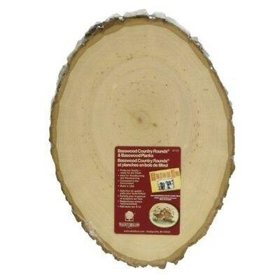 "Basswood Country Round Plaque-8.5""-9.5"""