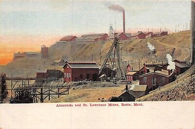 Anaconda and St. Lawrence Mines, Butte, MT  1907-1915