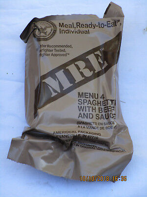 US Meal-ready-to-eat,MRE,Einsatzverpflegung,Notration,Menu:4,Spaghetti,Beef,...