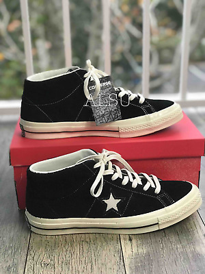 3eb84260d3a9 Sneakers Mens Converse One Star Mid Suede Black Egret