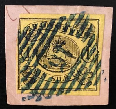 Germany.braunschweig.1861.1 Sgr.. Used On Cover Piece.michel# 11A. 70 Euros.