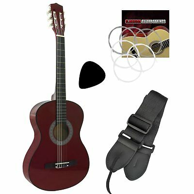 Tiger 1/4 Size Beginners  Classical Guitar - Red