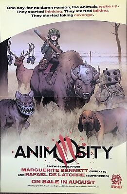 """ANIMOSITY/ALTERS AFTERSHOCK PROMO POSTER 17"""" x 11"""" SHIPS FOLDED IN HALF"""