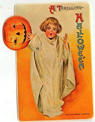"Halloween Moving Post Card 1981 ""our Version Of The Antique Card""--Embossed~~~"