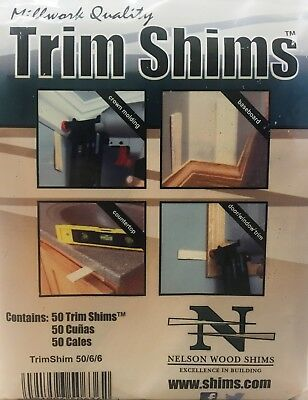 Nelson Wood Cedar Trim Shims 50/6/6 Millwork Quality 50/pack - NEW in Pack