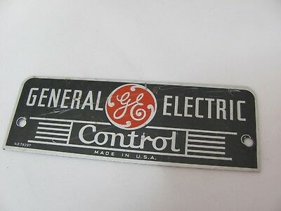 Vintage General Electric Metal Logo Plate-screw mount