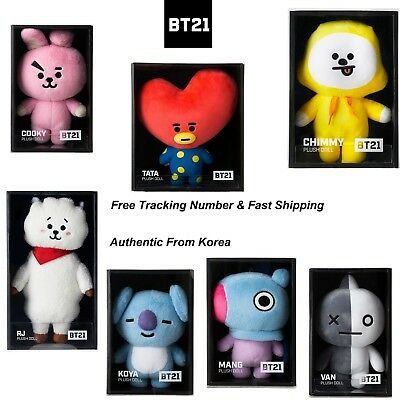 <BTS> <BT21> Official Authentic Goods Standing Plush Doll Medium (Fast+Tracking)