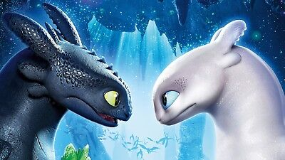 How To Train Your Dragon 3 Cartoon Movie Wall Art Poster / Canvas Picture Print