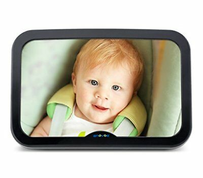 Baby Mirror Car Bonus Cleaning Cloth Wide Convex Rear Facing Backseat Mirror