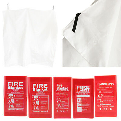 Fire Blanket Emergency Survival Safety Fires Glass Fiber Clothing 5 Size