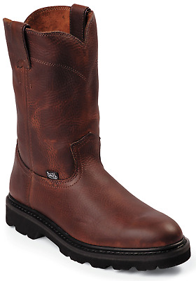 Justin Screwdriver Men's Work Boots - Lightweight Unlined Oiled Leather - WK4905