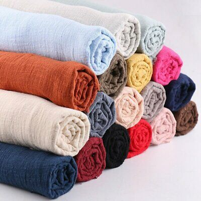 1/ 3m Linen Cotton Fabric Organic Material Pure Natural Flax Cambric DIY Clothes