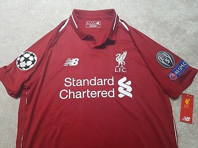 Liverpool home shirt 2018/19 with Champions League Patches BNWT