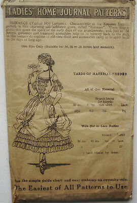 c1920-1930 LADIES HOME JOURNAL Pattern #S-15 ROMANCE 1850 COSTUME- ONE SIZE ONLY