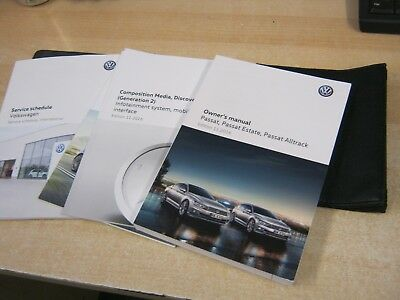 Vw Passat And Estate   Owners Manual Handbook Wallet 2016-2018  Inc Service Book