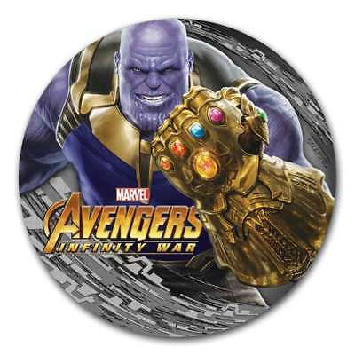 THANOS - MARVEL -AVENGERS INFINITY WAR - 2018 2 Pure Silver Antiqued Coin - Fiji