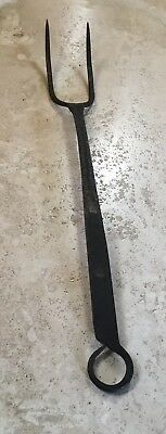 Antique Hand Forged Wrought Iron Meat Fork